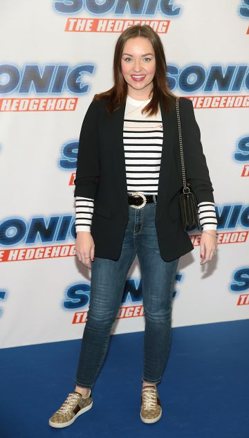 Ellen Kavanagh at the special preview screening of Sonic the Hedgehog Movie at the Odeon Cinema in Point Square, Dublin. Pic: Brian McEvoy