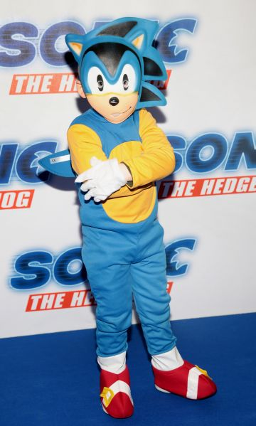 Cameron O Connell at the special preview screening of Sonic the Hedgehog Movie at the Odeon Cinema in Point Square, Dublin. Pic: Brian McEvoy