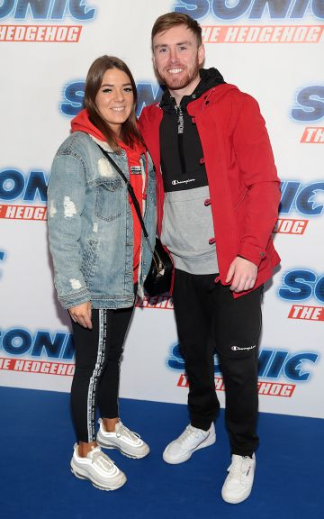Danielle Sleater and Stephen Tuohy at the special preview screening of Sonic the Hedgehog Movie at the Odeon Cinema in Point Square, Dublin. Pic: Brian McEvoy