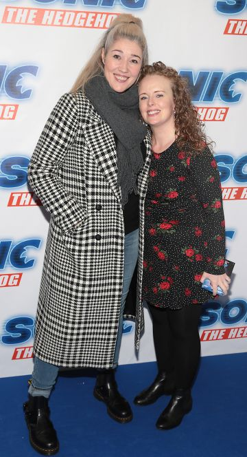 Jackie Fay and Berndaette O'Halloran at the special preview screening of Sonic the Hedgehog Movie at the Odeon Cinema in Point Square, Dublin. Pic: Brian McEvoy