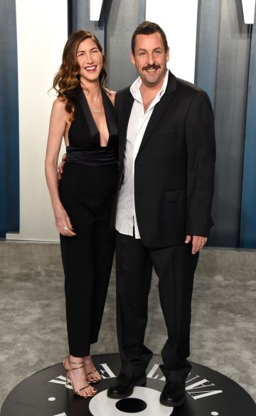 Jackie Sandler (L) and Adam Sandler attend the 2020 Vanity Fair Oscar Party hosted by Radhika Jones at Wallis Annenberg Center for the Performing Arts on February 09, 2020 in Beverly Hills, California. (Photo by John Shearer/Getty Images)