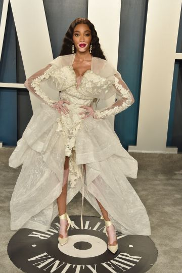 Winnie Harlow attends the 2020 Vanity Fair Oscar Party at Wallis Annenberg Center for the Performing Arts on February 09, 2020 in Beverly Hills, California. (Photo by David Crotty/Patrick McMullan via Getty Images)