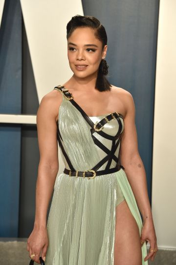Tessa Thompson attends the 2020 Vanity Fair Oscar Party at Wallis Annenberg Center for the Performing Arts on February 09, 2020 in Beverly Hills, California. (Photo by David Crotty/Patrick McMullan via Getty Images)