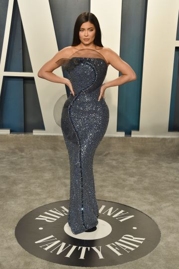 Kylie Jenner attends the 2020 Vanity Fair Oscar Party at Wallis Annenberg Center for the Performing Arts on February 09, 2020 in Beverly Hills, California. (Photo by David Crotty/Patrick McMullan via Getty Images)