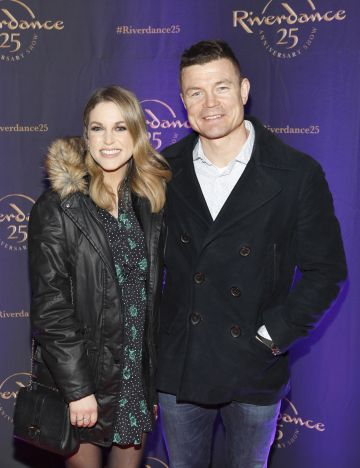 Amy Huberman and Brian O'Driscoll at the historic gala performance of Riverdance 25th Anniversary show at 3Arena Dublin exactly 25 years to the day that Riverdance was first performed at the Point Depot.  Photo: Kieran Harnett