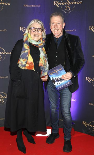 Darina Allen and Paul Harrington at the historic gala performance of Riverdance 25th Anniversary show at 3Arena Dublin exactly 25 years to the day that Riverdance was first performed at the Point Depot.  Photo: Kieran Harnett
