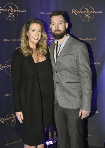 Killian & Laura Woods at the historic gala performance of Riverdance 25th Anniversary show at 3Arena Dublin exactly 25 years to the day that Riverdance was first performed at the Point Depot.  Photo: Kieran Harnett