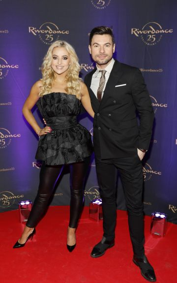 Laura Nolan and Robert Rowinkki at the historic gala performance of Riverdance 25th Anniversary show at 3Arena Dublin exactly 25 years to the day that Riverdance was first performed at the Point Depot.  Photo: Kieran Harnett