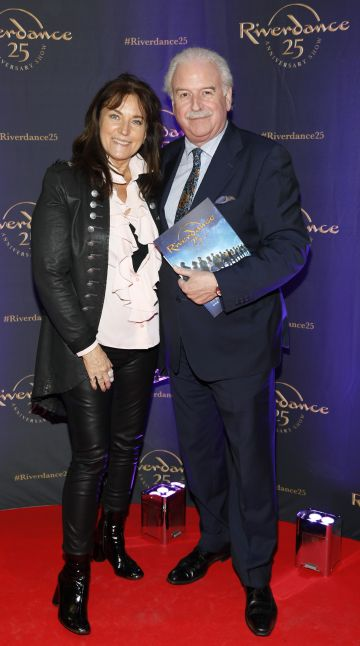 Maria and Marty Whelan at the historic gala performance of Riverdance 25th Anniversary show at 3Arena Dublin exactly 25 years to the day that Riverdance was first performed at the Point Depot.  Photo: Kieran Harnett
