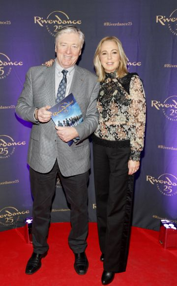 Pat and Kathy Kenny at the historic gala performance of Riverdance 25th Anniversary show at 3Arena Dublin exactly 25 years to the day that Riverdance was first performed at the Point Depot.  Photo: Kieran Harnett