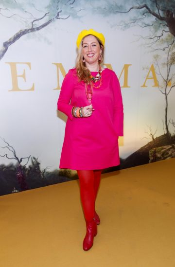 Sally Cinnamon pictured at a special preview screening of EMMA, a delicious new adaption of Jane Austen's beloved comedy, at Light House Cinema, Dublin.   Picture Andres Poveda