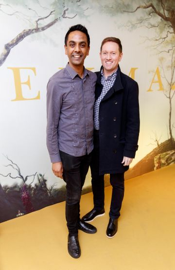 Clint Drieberd and David Mitchell pictured at a special preview screening of EMMA, a delicious new adaptation of Jane Austen's beloved comedy, at Light House Cinema, Dublin Picture Andres Poveda