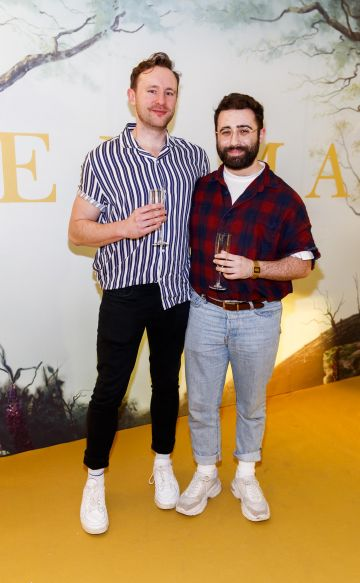 Adam Hurley and Conor Merriman ppictured at a special preview screening of EMMA, a delicious new adaptation of Jane Austen's beloved comedy, at Light House Cinema, Dublin Picture Andres Poveda