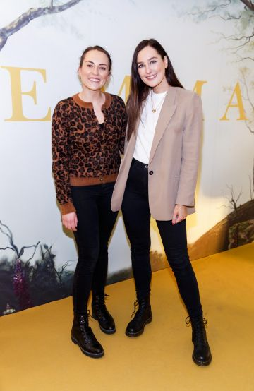 Ashling O'Brien and Rachel Purcell pictured at a special preview screening of EMMA, a delicious new adaptation of Jane Austen's beloved comedy, at Light House Cinema, Dublin Picture Andres Poveda