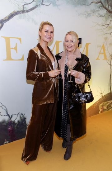 Sophie Vavasseour and Laura Mullett pictured at a special preview screening of EMMA, a delicious new adaptation of Jane Austen's beloved comedy, at Light House Cinema, Dublin Picture Andres Poveda