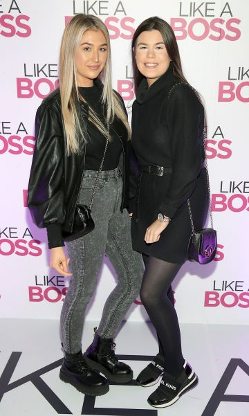 Bev Boyce and Taylor Leppla at the special preview screening of Like A Boss at the Lighthouse Cinema, Dublin. Pic: Brian McEvoy