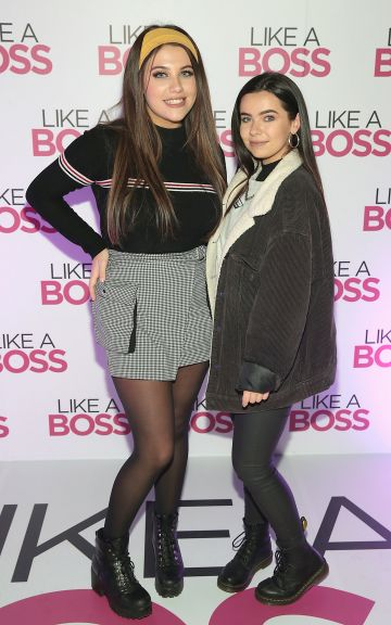 Ava O'Connor and Katie Whelan at the special preview screening of Like A Boss at the Lighthouse Cinema, Dublin. Pic: Brian McEvoy