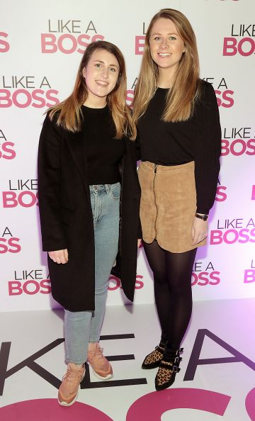 Lorna Healion and Alison Behan at the special preview screening of Like A Boss at the Lighthouse Cinema, Dublin. Pic: Brian McEvoy