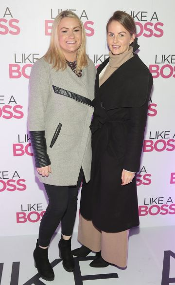 Alison Reynolds and Elaine McConnell at the special preview screening of Like A Boss at the Lighthouse Cinema, Dublin. Pic: Brian McEvoy