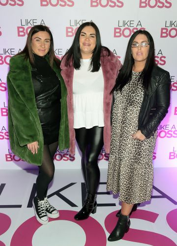 Lindsay Kavanagh, Melissa Treacy and Sasha Cooney at the special preview screening of Like A Boss at the Lighthouse Cinema, Dublin. Pic: Brian McEvoy