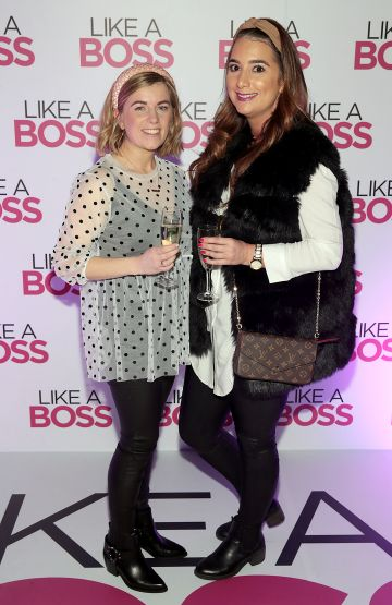 Leia Holmes and Caroline Ryan at the special preview screening of Like A Boss at the Lighthouse Cinema, Dublin. Pic: Brian McEvoy