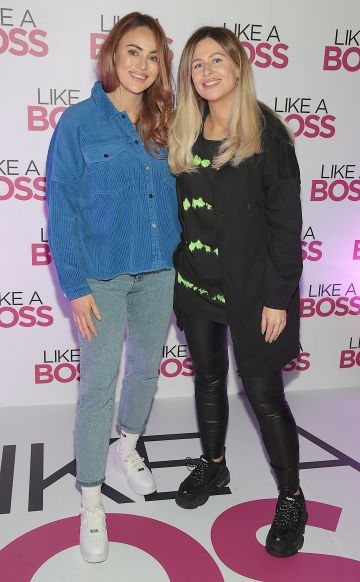 Cheryl Donnelly and Nadia Powney at the special preview screening of Like A Boss at the Lighthouse Cinema, Dublin. Pic: Brian McEvoy