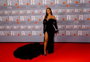 Maya Jama attends The BRIT Awards 2020 at The O2 Arena on February 18, 2020 in London, England. (Photo by Dave J Hogan/Getty Images)