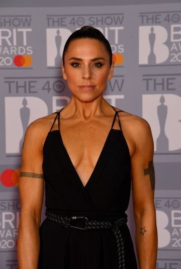 Melanie C attends The BRIT Awards 2020 at The O2 Arena on February 18, 2020 in London, England. (Photo by Dave J Hogan/Getty Images)