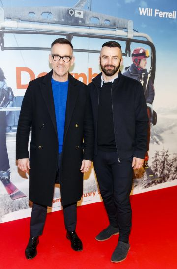 Brendan Courtney and Adam Maryniak pictured at a special preview screening of Downhill at the Light House Cinema, Dublin. Picture: Andres Poveda.