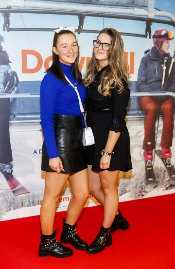 Mia Fitzgerald and Cameron Ryan pictured at a special preview screening of Downhill at the Light House Cinema, Dublin. Picture: Andres Poveda.