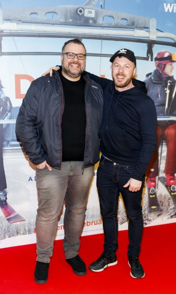 Rory Cashin and Chris Newmanpictured at a special preview screening of Downhill at the Light House Cinema, Dublin. Picture: Andres Poveda.