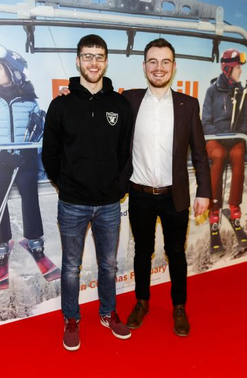 Emmet Doogan and Glen McGroarty pictured at a special preview screening of Downhill at the Light House Cinema, Dublin. Picture: Andres Poveda.