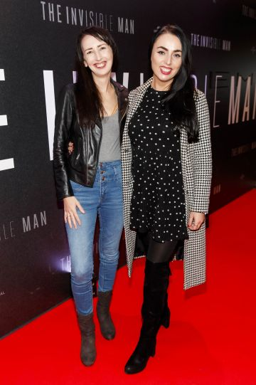 Clodagh Kenny and Ellie Sutton pictured at a special preview screening of The Invisible Man at Light House Cinema, Dublin. Picture: Andres Poveda.