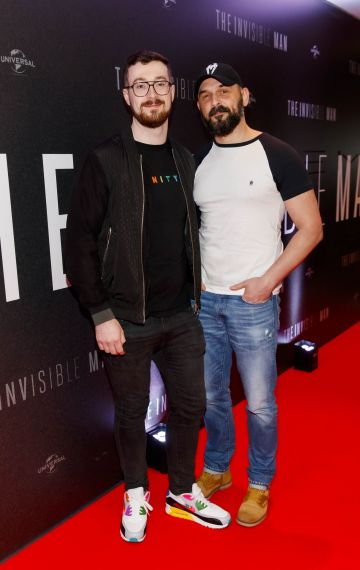 Dave McGrath and Arik Worblewski pictured at a special preview screening of The Invisible Man at Light House Cinema, Dublin. Picture: Andres Poveda.
