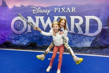 Ava deLoughrey Lusk and Susan Heney (9) from Malahide pictured at the special preview screening of Disney Pixar's Onwards in the Odeon Point Village.  Picture: Andres Poveda
