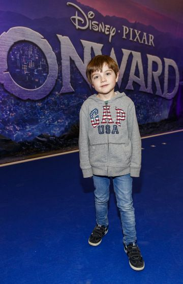 Henry Murphy (6) pictured at the special preview screening of Disney Pixar's Onwards in the Odeon Point Village.  Picture: Andres Poveda