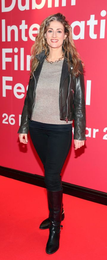 Heather Skinner at the Virgin Media Dublin International Film Festival Irish Premiere screening of Street Leagues at Cineworld Dublin. Pic: Brian McEvoy Photography