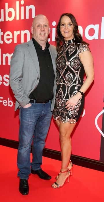 Christopher O'Brien and Gillian O'Brien at the Virgin Media Dublin International Film Festival Irish Premiere screening of Street Leagues at Cineworld Dublin. Pic: Brian McEvoy Photography