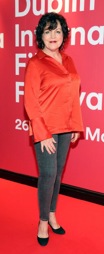 Ursula Cruise at the Virgin Media Dublin International Film Festival Irish Premiere screening of Street Leagues at Cineworld Dublin. Pic: Brian McEvoy Photography