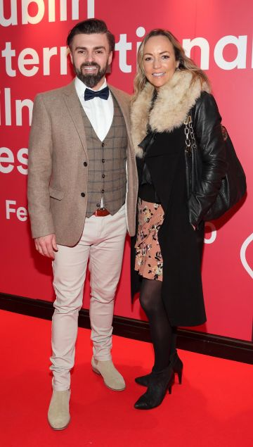 Matthew Toman and Aine McConaghy at the Virgin Media Dublin International Film Festival Irish Premiere screening of Street Leagues at Cineworld Dublin. Pic: Brian McEvoy Photography