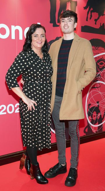 Maria McEnery and Luka McEnery at the Virgin Media Dublin International Film Festival Irish Premiere screening of Street Leagues at Cineworld Dublin. Pic: Brian McEvoy Photography