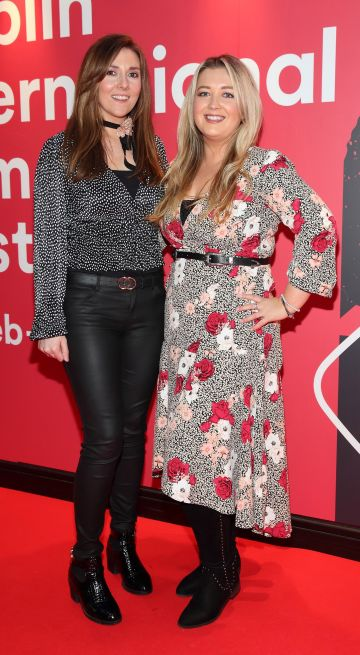Rebecca Magee and Jessica Magee at the Virgin Media Dublin International Film Festival Irish Premiere screening of Street Leagues at Cineworld Dublin. Pic: Brian McEvoy Photography