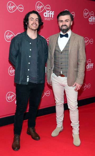 Director Daniel Holmes and Producer Matthew Toman at the Virgin Media Dublin International Film Festival Irish Premiere screening of Street Leagues at Cineworld Dublin. Pic: Brian McEvoy Photography