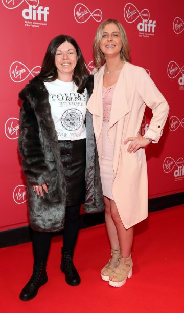 Sharon Tansey and Nikita Farrelly at the Virgin Media Dublin International Film Festival Irish Premiere screening of Street Leagues at Cineworld Dublin. Pic: Brian McEvoy Photography