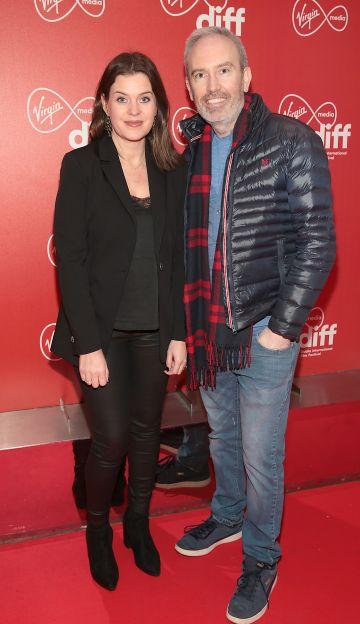 Niamh O Driscoll and Andy Byrne at the Virgin Media Dublin International Film Festival Irish Premiere of Innocent Boy at the Lighthouse Cinema, Dublin. Pic: Brian McEvoy.