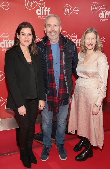 Niamh O Driscoll, Andy Byrne and Clare Quinlan at the Virgin Media Dublin International Film Festival Irish Premiere of Innocent Boy at the Lighthouse Cinema, Dublin. Pic: Brian McEvoy.