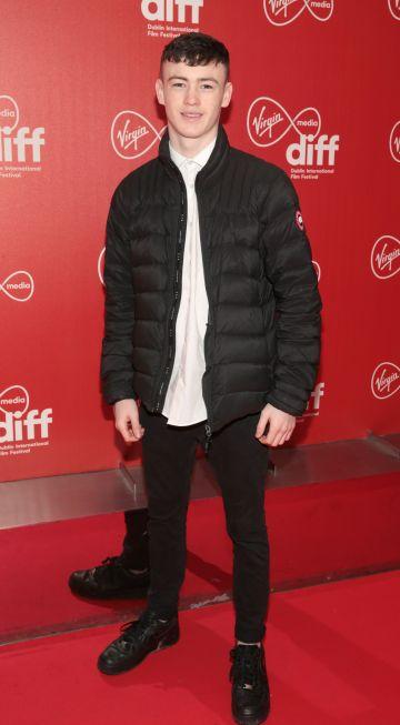 Actor Lewis Brophy at the Virgin Media Dublin International Film Festival Irish Premiere of Innocent Boy at the Lighthouse Cinema, Dublin. Pic: Brian McEvoy.