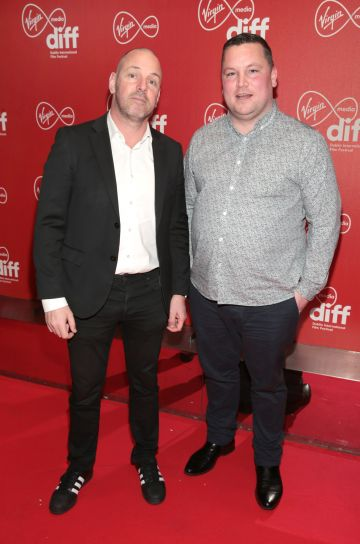 Bill Malone -Director of Content at Virgin Media Television and John Connors at the Virgin Media Dublin International Film Festival Irish Premiere of Innocent Boy at the Lighthouse Cinema, Dublin. Pic: Brian McEvoy.