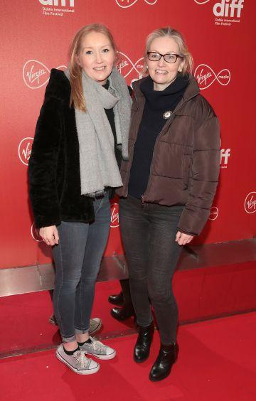 Ruth Murray and Emer Gleeson at the Virgin Media Dublin International Film Festival Irish Premiere of Innocent Boy at the Lighthouse Cinema, Dublin. Pic: Brian McEvoy.