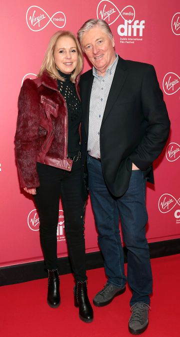 Kathy Kenny and Pat Kenny at the World Premiere of Citizens of Boomtown at the Virgin Media Dublin International Film Festival at Cineworld, Dublin. Pic: Brian McEvoy Photography.